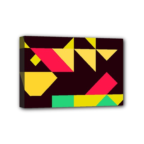 Shapes In Retro Colors 2 Mini Canvas 6  X 4  (stretched) by LalyLauraFLM