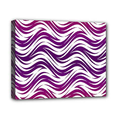 Purple Waves Pattern Canvas 10  X 8  (stretched) by LalyLauraFLM