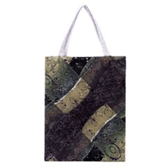 Geometric Abstract Grunge Prints In Cold Tones Classic Tote Bag
