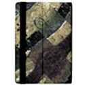 Geometric Abstract Grunge Prints in Cold Tones Apple iPad Air 2 Flip Case View4