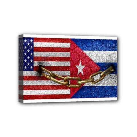 United States And Cuba Flags United Design Mini Canvas 6  X 4  (framed) by dflcprints