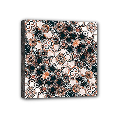 Modern Arabesque Pattern Print Mini Canvas 4  x 4  (Framed) by dflcprints