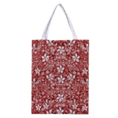 Flowers Pattern Collage In Coral An White Colors Classic Tote Bag