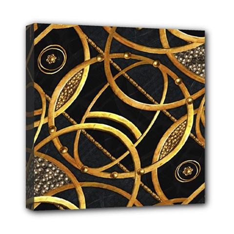 Futuristic Ornament Decorative Print Mini Canvas 8  X 8  (framed) by dflcprints