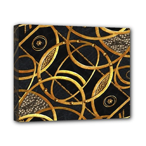 Futuristic Ornament Decorative Print Canvas 10  X 8  (framed) by dflcprints
