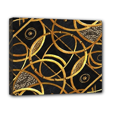Futuristic Ornament Decorative Print Deluxe Canvas 20  X 16  (framed) by dflcprints