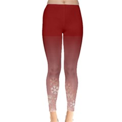 red snow flakes Leggings  by aopclothing