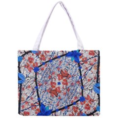 Floral Pattern Digital Collage Tiny Tote Bag by dflcprints