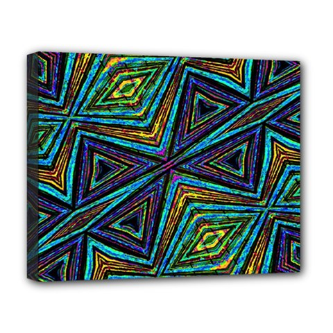 Tribal Style Colorful Geometric Pattern Deluxe Canvas 20  X 16  (framed) by dflcprints