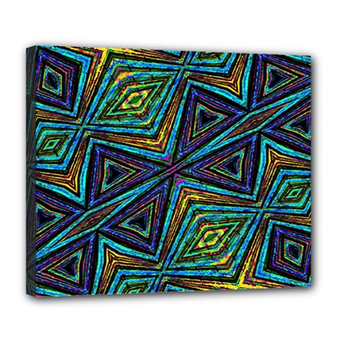 Tribal Style Colorful Geometric Pattern Deluxe Canvas 24  X 20  (framed) by dflcprints
