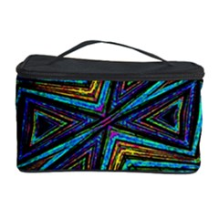 Tribal Style Colorful Geometric Pattern Cosmetic Storage Case by dflcprints