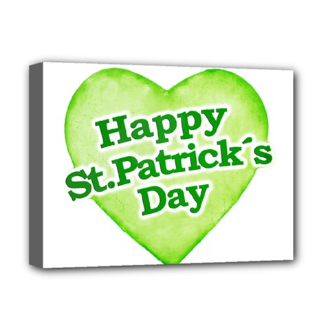 Happy St Patricks Day Design Deluxe Canvas 16  X 12  (framed)  by dflcprints
