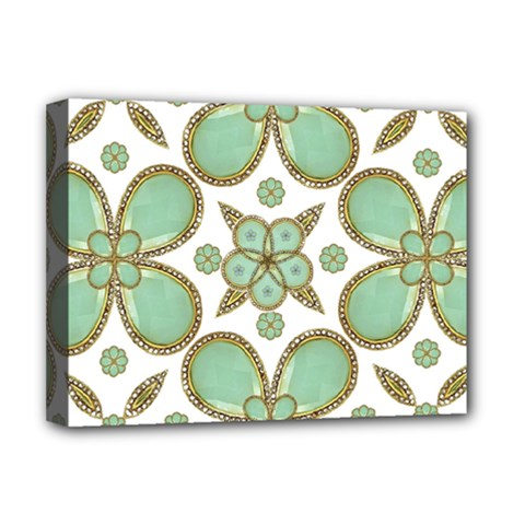 Luxury Decorative Pattern Collage Deluxe Canvas 16  X 12  (framed)  by dflcprints