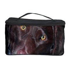 Inquisitive Chocolate Lab Cosmetic Storage Case