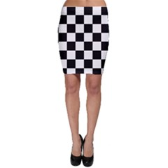 Checkered Flag Winner Racing Fan Bodycon Skirt by CrypticFragmentsColors