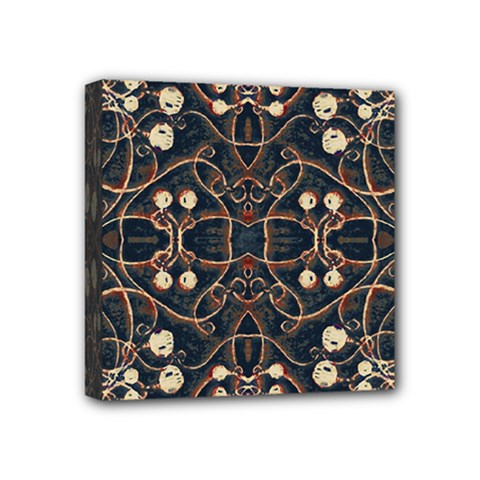 Victorian Style Grunge Pattern Mini Canvas 4  X 4  (framed) by dflcprints