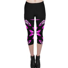 Abstract Pain Frustration Capri Leggings  by FunWithFibro