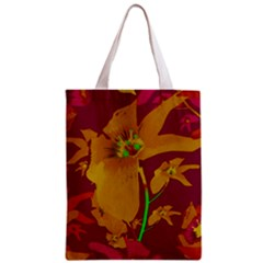 Tropical Hawaiian Style Lilies Collage Classic Tote Bag by dflcprints