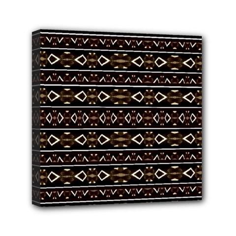 Tribal Dark Geometric Pattern03 Mini Canvas 6  X 6  (framed) by dflcprints