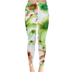 Multicolored Floral Print Pattern Leggings  by dflcprints