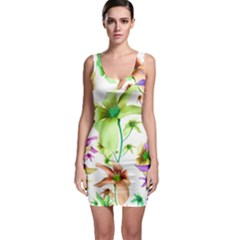 Multicolored Floral Print Pattern Bodycon Dress by dflcprintsclothing