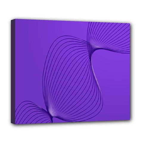 Twisted Purple Pain Signals Deluxe Canvas 24  X 20  (framed) by FunWithFibro