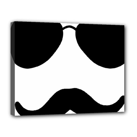 Aviators Tache Canvas 14  x 11  (Framed) by YAYA