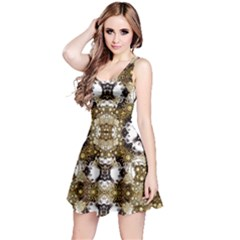 Baroque Ornament Pattern Print Sleeveless Dress by dflcprintsclothing