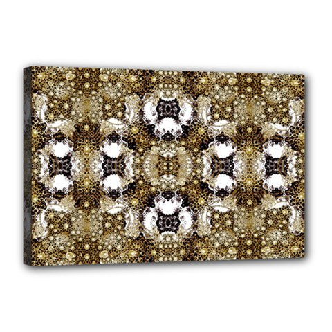 Baroque Ornament Pattern Print Canvas 18  X 12  (framed) by dflcprints