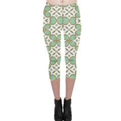 Luxury Pattern  Capri Leggings  by dflcprintsclothing