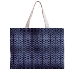 Futuristic Geometric Pattern Design Print In Blue Tones Tiny Tote Bag by dflcprints