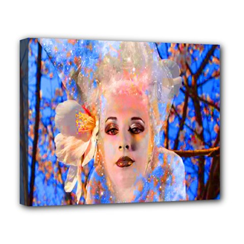 Magic Flower Deluxe Canvas 20  X 16  (framed) by icarusismartdesigns