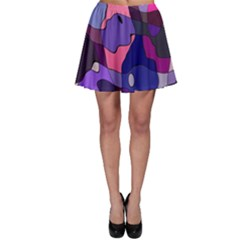 Blue Purple Chaos Skater Skirt by LalyLauraFLM