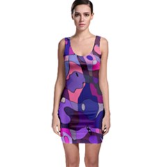 Blue Purple Chaos Bodycon Dress