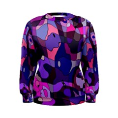 Blue Purple Chaos Women s Sweatshirt by LalyLauraFLM
