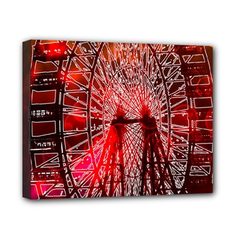 Vintage 1893 Chicago Worlds Fair Ferris Wheel Canvas 10  X 8  (framed) by bloomingvinedesign