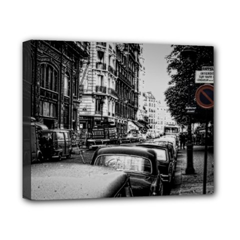Vintage Paris Street Canvas 10  X 8  (framed) by bloomingvinedesign