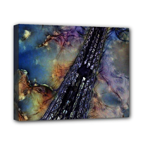 Vintage Eiffel Tower Abstract Canvas 10  X 8  (framed) by bloomingvinedesign