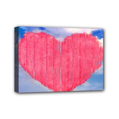 Pop Art Style Love Concept Mini Canvas 7  X 5  (framed) by dflcprints