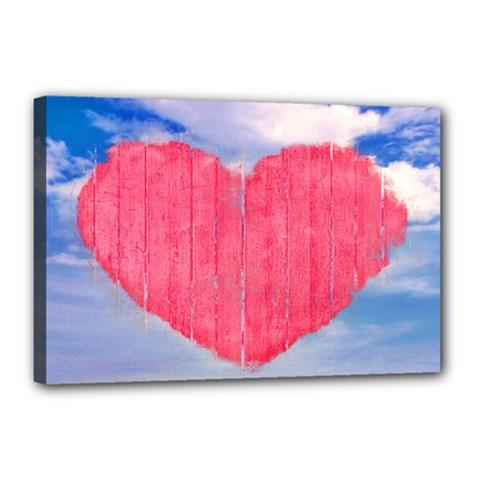 Pop Art Style Love Concept Canvas 18  X 12  (framed) by dflcprints