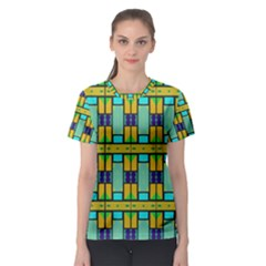 Different Shapes Pattern Women s Sport Mesh Tee by LalyLauraFLM