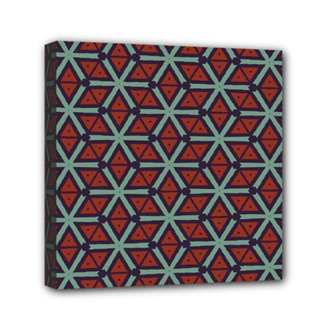 Cubes Pattern Abstract Design Mini Canvas 6  X 6  (stretched) by LalyLauraFLM