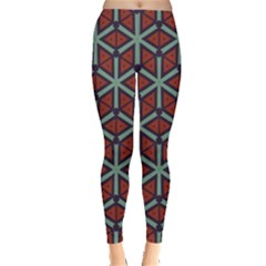 Cubes Pattern Abstract Design Leggings  by LalyLauraFLM