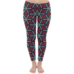 Cubes pattern abstract design Winter Leggings  by LalyLauraFLM