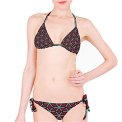 Cubes Pattern Abstract Design Bikini Set by LalyLauraFLM