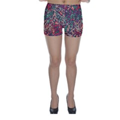 Color Mix Skinny Shorts