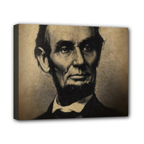 Vintage Civil War Era Lincoln Canvas 10  X 8  (framed) by bloomingvinedesign