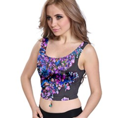 Abstract Lilacs Crop Top by bloomingvinedesign