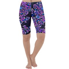 Abstract Lilacs Cropped Leggings  by bloomingvinedesign