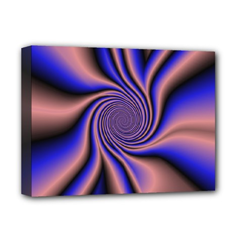 Purple Blue Swirl Deluxe Canvas 16  X 12  (stretched)  by LalyLauraFLM